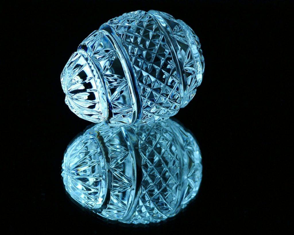 crystal, egg, cut glass