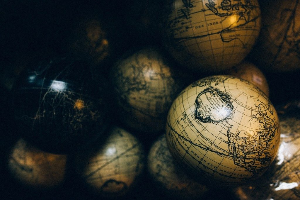 globes, spheres, maps